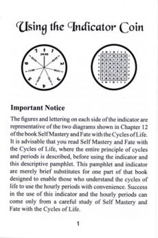 Reference Indicator Coin & Booklet: Self Mastery and Fate book