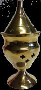 Incense Burner - Brass (Height: 11½cm)